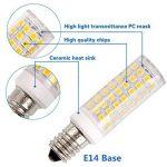 E14 Ampoule LED, ZSZT 9W Equivalent à Ampoule Halogènes 75W, 3000K Blanc Chaud, 800lm, AC220-240V, 360° Large Faisceau, Non-dimmable Lot de 2 de la marque ZSZT image 3 produit