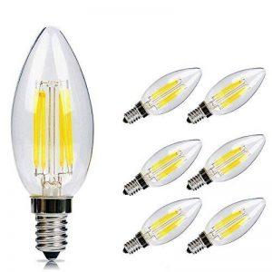 E14 Bougie Ampoule LED 6W Candle Light Blanc Froid 4500k ,480lm,Equivalent à Ampoule Halogène 60W,360° Faisceau,220-240V de la marque DaSinKo image 0 produit