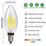 E14 Bougie Ampoule LED 6W Candle Light Blanc Froid 4500k ,480lm,Equivalent à Ampoule Halogène 60W,360° Faisceau,220-240V de la marque DaSinKo image 1 produit