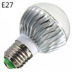 E14 GU10 B22 E26/E27 Ampoules Globe LED A60(A19) 1 diodes électroluminescentes LED Haute Puissance Intensité Réglable Commandée à ( Connecteur : E14 , Couleur de source : RGB ) de la marque Ampoules LED image 3 produit