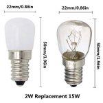 E14 SES LED lampe Cool blanc 6000K 2W AC 220-240 volts, 15 watts équivalent petit Edison à vis LED pygmée ampoule pour réfrigérateur, four micro-ondes cuisinière hotte Sewing Machine 2-packs de la marque ZSZT image 1 produit