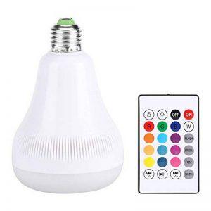 E27 LED Musique Ampoule 18W RGB Flammes Lumière Colorée Bluetooth Haut-Parleur avec 24 Touches Télécommande Sans Fil de la marque Fdit image 0 produit