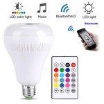 E27 LED Musique Ampoule 18W RGB Flammes Lumière Colorée Bluetooth Haut-Parleur avec 24 Touches Télécommande Sans Fil de la marque Fdit image 2 produit