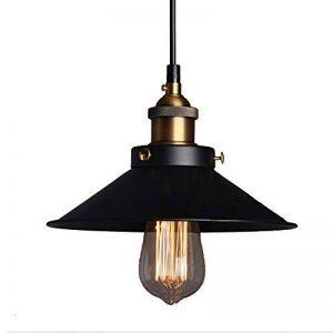 E27 Métal Retro Suspensions Luminaires Vintage Plafonniers Luminaire Plafond Lustre Edison de Culot E27 Suspensions Eclairage de Plafond Noire Suspensions Luminaires Lampe de la marque Chrasy image 0 produit