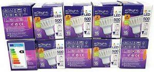e3Light Lot de 10 ampoules LED GU10 à intensité variable Blanc froid 7 W = 72 W pour lampes halogènes 4000 K 500 lm de la marque e3light image 0 produit