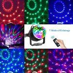Eclairage de Scène Lumière Fête, Adorishe 7 Couleurs Disco Lumiere 6W Lampe de Scène RGB LED Effet Anniversaire Lumière Ampoule Boule Cristal pour Bar, DJ Disco, Club, Halloween, Party, Enfants(2 pcs) de la marque Adorishe image 2 produit
