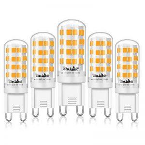 Eco.Luma Ampoule LED G9, 4W Equivalent 28W 33W 40W Lampe Halogène, 410LM, Blanc Chaud 3000K, AC100-265V, NON-Dimmable, Culot G9 Standard (Lot de 5) de la marque Eco.Luma image 0 produit