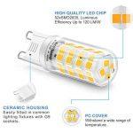 Eco.Luma Ampoule LED G9, 4W Equivalent 28W 33W 40W Lampe Halogène, 410LM, Blanc Chaud 3000K, AC100-265V, NON-Dimmable, Culot G9 Standard (Lot de 5) de la marque Eco.Luma image 2 produit