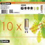 ECOBELLE 10 x Ampoules Haute Puissance LED G9 5W 650 Lumen (Equivalent 50W), Couleur Blanc Naturel 4000k, Size: 1.86 x 6.3 cm, 360°, Flicker Free de la marque Ecobelle image 1 produit