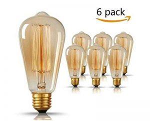 Edison Ampoule , GogoTool E27 2700-2900K Dimmable 40W ST64 Edison Lampe Vintage Ampoule Décorative Antique Filament Rétro - 6 Pack de la marque GogoTool image 0 produit