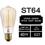 Edison Ampoule , GogoTool E27 2700-2900K Dimmable 40W ST64 Edison Lampe Vintage Ampoule Décorative Antique Filament Rétro - 6 Pack de la marque GogoTool image 2 produit