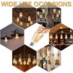 Edison Ampoule , Mixigoo Edison Lampe LED Vintage Ampoule Décorative E27 4W ST64 Antique Filament Rétro Lumière Blanc Chaud Pour Lampe Murale Lampe Suspendue Suspension - 6 Pack de la marque mixigoo image 2 produit