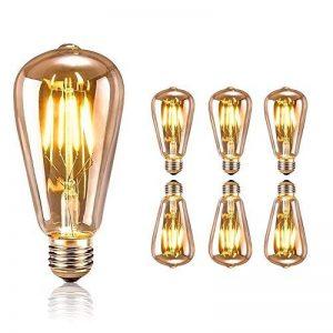 Edison Vintage Lot de 6 ampoules à LED Edison Edison Blanc chaud E27 rétro, vintage et rétro, idéal pour les éclairages nostalgiques et rétroéclairages dans la maison Café Bar usw de la marque tronisky image 0 produit