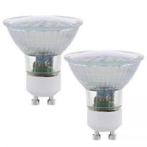 Eglo 11537 Lot de 2 Ampoules GU10 LED SMD 3000K 5 W 400 lumens Blanc Chaud de la marque EGLO; my light; my style image 0 produit
