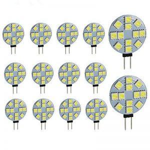 Ei-home 14 Lot Blanc 6000 K côté Pin G4 Ampoule LED, 3 W , 5050-12smd DC 12 V lumières LED pour la lecture, voiture, RV, Cabinet d'éclairage de la marque Ei-Home image 0 produit