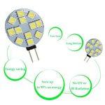 Ei-home 14 Lot Blanc 6000 K côté Pin G4 Ampoule LED, 3 W , 5050-12smd DC 12 V lumières LED pour la lecture, voiture, RV, Cabinet d'éclairage de la marque Ei-Home image 3 produit