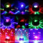 EJBOTH Étape lampe de boîte de nuit RGB, lumières LED RGB lumière d'étape AC 220V Phase cristal rotation ampoule avec le Marquee dans l'éclairage du projecteur Ambiance boule de lumière pour bar discothèque KTV activation DJ Voix de Noël de la marque EJBO image 4 produit
