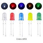 ELEGOO 3mm et 5mm Diffusé et Transparent le Kit LED Diode Electro Luminescente Assorti 5 Couleurs pour Arduino (Pack de 600) de la marque ELEGOO image 2 produit