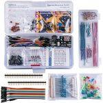 ELEGOO Kit Électronique Mis à Jour avec Module d'alimentation, Câbles Jumpers, Potentiomètre de précision, Plaque de Test 830 Points pour Arduino UNO R3 Mega 2560 Nano Raspberry Pi et STM32 de la marque ELEGOO image 1 produit
