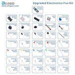ELEGOO Kit Électronique Mis à Jour avec Module d'alimentation, Câbles Jumpers, Potentiomètre de précision, Plaque de Test 830 Points pour Arduino UNO R3 Mega 2560 Nano Raspberry Pi et STM32 de la marque ELEGOO image 3 produit