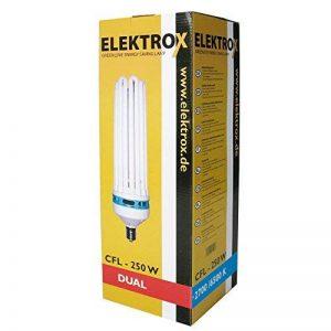 Elektrox Lampe CFL 2100K croissance et floraison Grow Lampe ESL Plante Plante lumière de 85W de 125W 200W 250W pour plantes d'intérieur Plante Croissance Lampe Floraison Lampe avec greenception anzucht Engrais de la marque Elektrox image 0 produit
