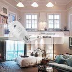 EleLight - Ampoule solaire LED multifonctionnelle - 7 W - E27 - Pour éclairage de secours ou camping - Rechargeable - Avec batterie externe USB pour téléphone portable … (Blanc) de la marque EleLight image 4 produit