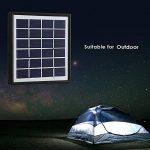 EleLight - Ampoule solaire LED multifonctionnelle - 7 W - E27 - Pour éclairage de secours ou camping - Rechargeable - Avec batterie externe USB pour téléphone portable … (Noir) de la marque EleLight image 1 produit