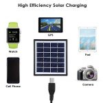 EleLight - Ampoule solaire LED multifonctionnelle - 7 W - E27 - Pour éclairage de secours ou camping - Rechargeable - Avec batterie externe USB pour téléphone portable … (Noir) de la marque EleLight image 2 produit