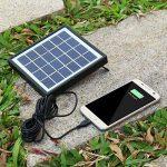EleLight - Ampoule solaire LED multifonctionnelle - 7 W - E27 - Pour éclairage de secours ou camping - Rechargeable - Avec batterie externe USB pour téléphone portable … (Noir) de la marque EleLight image 3 produit