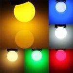 ELINKUME 10PCS 1W E27 ampoule couleur, ampoule LED couleur unique, 85LM Lampe de Noël 220V partie petite bulle de couleur, 180 ° ampoule LED (2 par couleur) (RGB 10PCS) de la marque ELINKUME image 2 produit