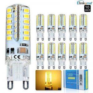 Elinkume 10X G9 Ampoule LED 3.5W Ampoule Lampe 48 SMD 2835LED Blanc Chaud 320LM Lumineux Ampoule LED AC200-240V de la marque ELINKUME image 0 produit