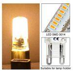 Elinkume 10X G9 Ampoule LED 3W Spot Bulb 64 SMD 3014LEDs Energy-Saving LED 320-350LM lampe de salon Blanc Chaud ---AC220-240V de la marque ELINKUME image 4 produit
