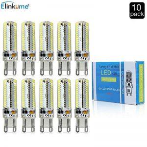 Elinkume 10X G9 Ampoule LED 5W LED Bulb 104 SMD 3014LED Super Lumineux 450LM Ampoule Lampe Blanc Froid 6500k économie d'énergie Lampe LED AC200-240V de la marque Elinkume image 0 produit