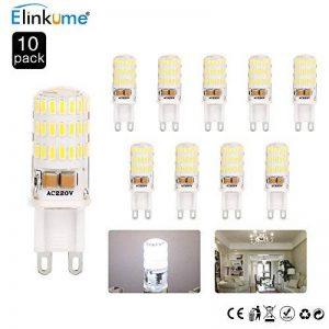 ELINKUME 10X G9 Ampoules LED Blanc Froid 5W 450 Lumen Super Lumineux [équivalent 40W ampoules halogènes] 6000K LED Ampoule Économiseuse D'énergie AC200-240V de la marque Goldwinge image 0 produit