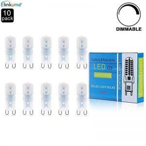 ELINKUME® 10x G9 Dimmable 2.5W LED Ampoule Lampe Spot Light Plastique AC 220 - 240V 2835 SMD Super Mini Facile à Installer Luminaire de 220 Lumen Blanc Chaud Equivalente Lampe à Incandescente de 25W de la marque ELINKUME image 0 produit