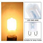ELINKUME® 10x G9 Dimmable 2.5W LED Ampoule Lampe Spot Light Plastique AC 220 - 240V 2835 SMD Super Mini Facile à Installer Luminaire de 220 Lumen Blanc Chaud Equivalente Lampe à Incandescente de 25W de la marque ELINKUME image 1 produit
