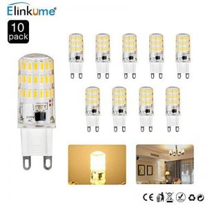 ELINKUME 10X G9 LED Ampoule 5W Super Lumineux Ampoule LED D'économie D'énergie [équivalent 40W ampoules halogènes] 450Lumen Blanc Chaud AC200-240V de la marque ELINKUME image 0 produit