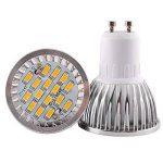 Elinkume 10X GU10 Ampoules LED 6W Lampe Bulb 16 SMD 5630 LED Spot Ampoule Lampe 500LM Super Lumineux lampe de salon Blanc Chaud (3000K) AC 90-240V de la marque ELINKUME image 2 produit