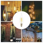 ELINKUME 12X E14 Bougie LED 4W Forme Bougie COB Ampoule Lampe Blanc Chaud 450LM Super Lumineux Flame Tip LED 220~240V de la marque ELINKUME image 2 produit