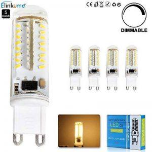 ELINKUME 5X 3.5W Dimmable Ampoule LED 70 SMD3014 G9 Blanc Chaud Angle de Faisceau 360°400LM AC 220V 3000K Économie d'énergie LED de la marque ELINKUME image 0 produit