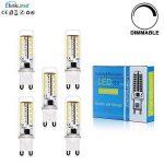 ELINKUME 5X 3.5W Dimmable Ampoule LED 70 SMD3014 G9 Blanc Chaud Angle de Faisceau 360°400LM AC 220V 3000K Économie d'énergie LED de la marque ELINKUME image 1 produit