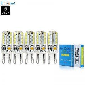 Elinkume 5X Ampoule LED Culot G9 64 LED SMD 3014 Blanc Froid 6000-7000K Lampe LED AC 220V 3W Economie d'énergie de la marque ELINKUME image 0 produit