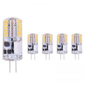 ELINKUME 5X G4 Ampoules LED 2W Blanc Chaud - Version améliorée de condensateur électrolytique, aucun scintillement - 2W LED Equivalent 20W Ampoule à Halogène, AC/DC 12V (Blanc Chaud) de la marque ELINKUME image 0 produit