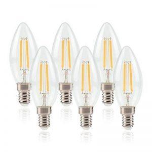 ELINKUME 6X Ampoule LED E14 Flamme Forme Bougie - 6W E14 Ampoules Bougie à LED - 3200K Blanc Chaud,550LM Super Lumineux,220V de la marque ELINKUME image 0 produit