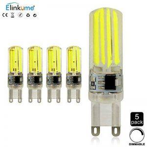 Elinkume Ampoule G9 5W 400 Lumen Dimmable Blanc Froid 5Pcs LED Économie d'énergie AC 220V 6000-7000K Haute Watt Belles Ampoule de la marque ELINKUME image 0 produit
