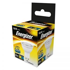 Energizer LED à intensité variable GU10Ampoule basse consommation, verre, Blanc Froid/blanc/K, GU10, 5watts, Plastique, Cool White/White, 5 Watts, GU10 5.5 watts 240 volts de la marque Energizer image 0 produit