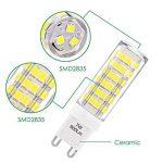 ENUOTEK Super Brillant Lampe Ampoule Culot G9 GU9 à LED Economique 7W 600Lm Blanc Froid 6000K Eclairage AC220-240V Equivalent 60W Ampoule Halogene Incandescente Lot de 6 de la marque ENUOTEK image 3 produit