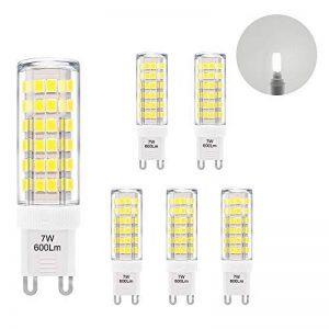 ENUOTEK Super Brillant Lampe Ampoule Culot G9 GU9 à LED Economique 7W 600Lm Blanc Froid 6000K Eclairage AC220-240V Equivalent 60W Ampoule Halogene Incandescente Lot de 6 de la marque ENUOTEK image 0 produit