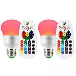 Esbaybulbs Ampoule Led Couleur 10W RGBW E27 Changement de Couleur Dimmable Ampoules LED Bulbs avec Télécommande Sans Fil (Lot de 2) de la marque Esbaybulbs image 0 produit