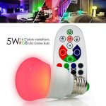 Esbaybulbs Ampoule Led Couleur 10W RGBW E27 Changement de Couleur Dimmable Ampoules LED Bulbs avec Télécommande Sans Fil (Lot de 2) de la marque Esbaybulbs image 3 produit